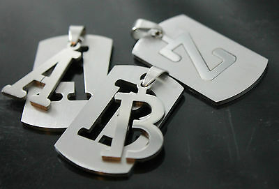 £1.99 • Buy DOG TAG ARMY Pendant A To Z Stainless Steel Initial Letter Necklace Military