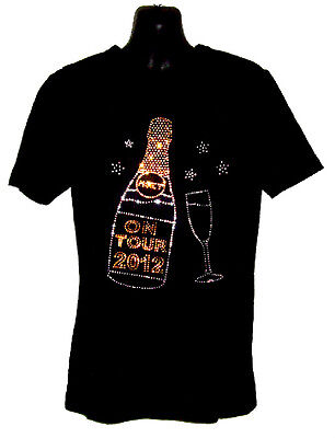 HEN NIGHT OR HOLIDAY  LADIES FITTED T SHIRT WITH RHINESTUD DESIGN (all Sizes) • 12.99£