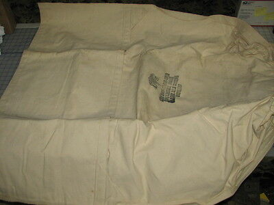 $34.95 • Buy Laundry Bag Soiled Clothes Self Closing Ropeless US Military NOS White Canvas