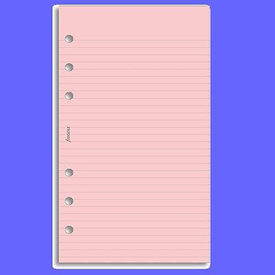 Filofax Personal Insert Pink Ruled Note Paper Refill 133007 • 2.99£