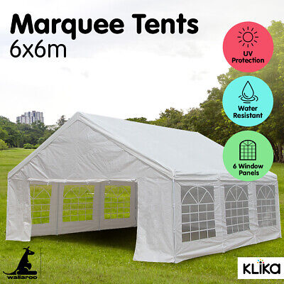 AU379 • Buy NEW 6x6 WHITE GAZEBO PARTY WEDDING TENT EVENT MARQUEE OUTDOOR CANOPY Shade