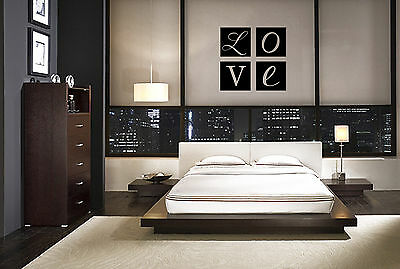 Love Squares Decal Vinyl Wall Lettering Home Art Home Decor Bedroom Sticker • 10.15£