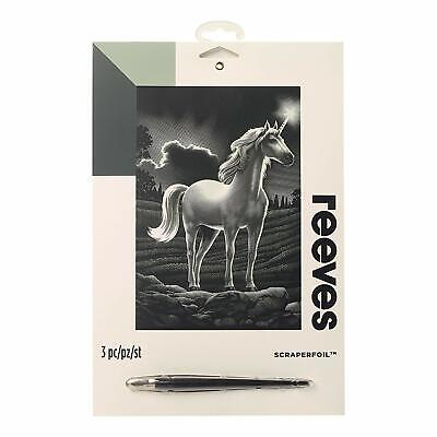£5.49 • Buy Reeves Scraperfoil / Engraving Art - Silverfoil - Various To Choose From