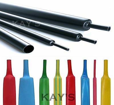 Heat Shrink Tube 2:1 Electrical Tubing Sleeving Cable Wire Heatshrink All Colour • 0.99£
