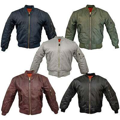 £29.45 • Buy MA1 Flight Bomber Jacket Combat Army Military Air Force US Pilot Skin MOD Padded