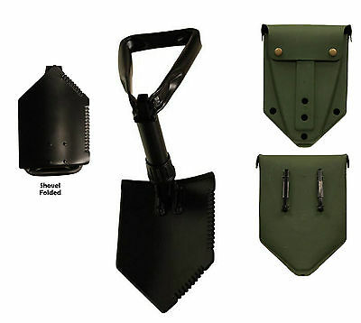 $28.99 • Buy US Military E-Tool Tri-Fold Entrenching Shovel With Olive Drab Cover Surplus