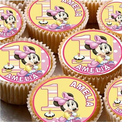 £1.99 • Buy 24 Personalised 1st Birthday Cup Cake Fairy Cake Toppers Boys / Girls You Choose