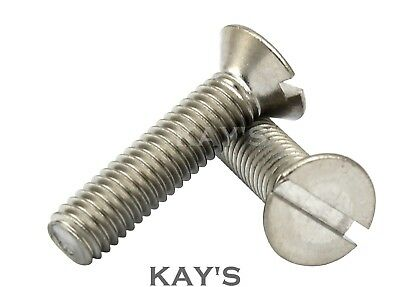 £1.71 • Buy M3, M4, M5 Slotted Countersunk Machine Screws A2 Stainless Steel Slot Csk Bolts