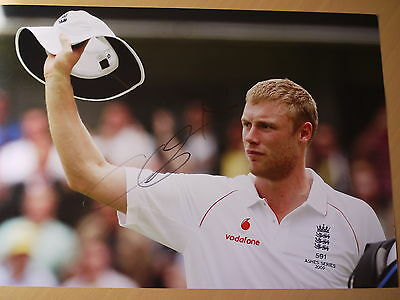 Signed Andrew 'Freddie' Flintoff England Ashes 2009 12x8 Photo • 40£