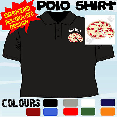 Personalised Embroidered Pizza Shop Business Workwear T Polo Shirt • 15.19£
