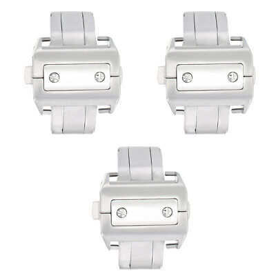 £65.15 • Buy 3-21mm Deployment Band Strap Buckle Clasp For Cartier Santos 100xl Chronograph