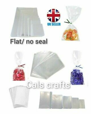£2.35 • Buy Clear Cellophane Cello Display Bags For Lollipops, Cake Pops, Sweets Party
