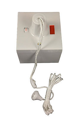 £13.15 • Buy Shower Ceiling Pull Switch & Surface Box - 50amp Double Pole DP Switch + Neon