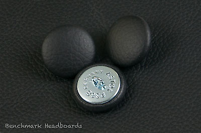 £2.99 • Buy 3 Upholstery Buttons Black Real Scottish Leather 25mm