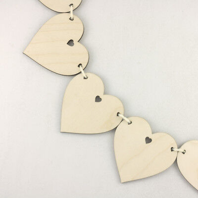 Wooden BUNTING HEARTS For Wedding Special Occasion Decoration Or Wall Hanging • 6.75£
