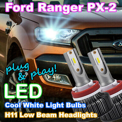 AU79.95 • Buy Ford Ranger White LED Headlight Bulbs, H7/H11 Low Beam PXII PX2 Wildtrak/XLT/FX4