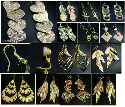 £3.99 • Buy Gold Tone Fashion Earrings - Costume Jewellery - Pierced Or Clip On - 13 Designs