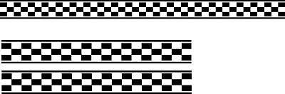 Checkered Flag Decals Sticker Car Vehicle Graphics 1 Set Of 3 14 99