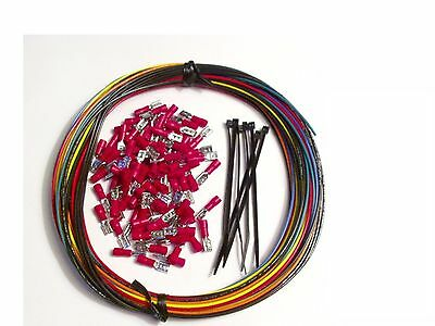 WIRE KIT MAME Arcade Game Crimps Controls Panel Button Joystick Hyperspin HAPP   • 13.89$