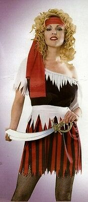 Sexy-women Pirate Wench Costume In One Size Halloween Fancy Dress. • 8.95£