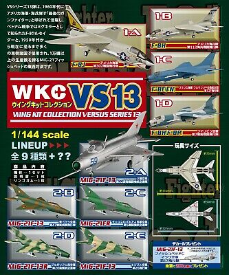 AU117.02 • Buy F-toys Wing Kit Collection VS13 Vought F-8 Crusader Mikoyan-Gurevich MiG-21 Set