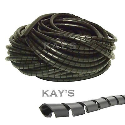 Spiral Cable Wrap Tidy Hide Banding Loom ~ Pc,tv,home Cinema,wire Management • 2.63£