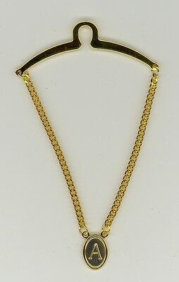 $9.99 • Buy Gold-Plated Initial Tie Chain ~ A ~ Initial 'A' ~ Cable Tie Chain ~ Fathers Day