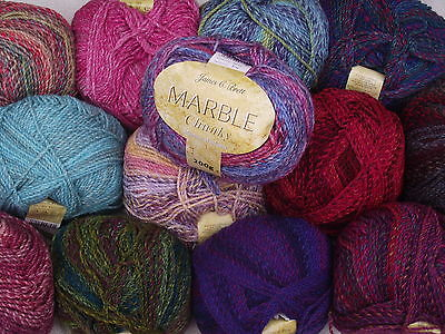 JAMES C BRETT - 200g MARBLE CHUNKY WOOL - MACHINE WASHABLE - Choice Of Colours • 4.95£