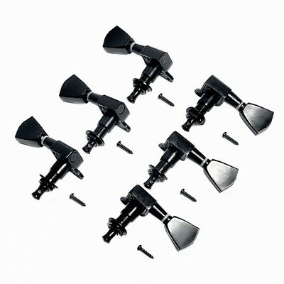 $ CDN21.44 • Buy Black Tuning Pegs Tuners Machine Heads 3R3L For Electric Guitar Parts Keys