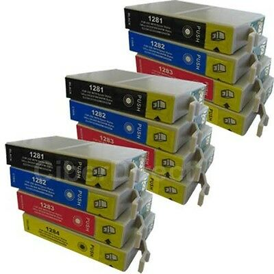 12 CiberDirect T1281 T1282 T1283 T1284 Ink Cartridges To Fit Epson Printers • 14.76£