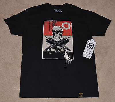 $208 • Buy NEW! GEARS OF WAR 3  O.G. Slick Dissizit T-Shirt BLACK Large L Lancer OMEN LOGO