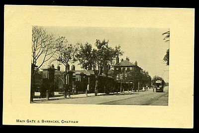 £7 • Buy Kent CHATHAM Tram Approaching Main Gate And Barracks Vintage PPC