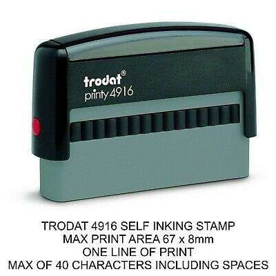 £10.95 • Buy Personalised Cheque Book Rubber Stamp Trodat 4916 Self Inking Name Accounts Work