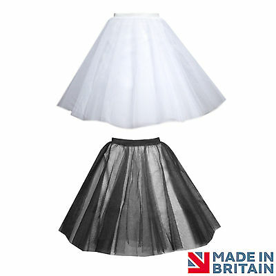 Plus Size Rock And Roll Black 4 Layers Net Skirt Circle Under Skirt Petticoat • 12.99£