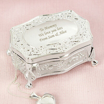 Personalised Engraved Small Antique Jewellery Box -Free Engraving, Valentines • 19.99£