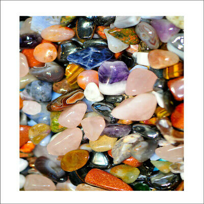 20 Mixed Best Healing Crystals Tumble Stones 10-20mm Chakra Gemstones 17p Each • 3.59£