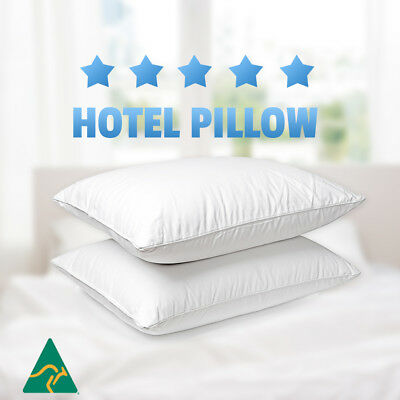 View Details 2x Aus Made Microfibre Hotel Pillow Cotton Cover -Altern To Down/Latex/Memory • 24.80AU