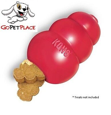 AU21.95 • Buy NEW Kong Classic Red Dog Chew Toy. Tough USA Made, Recommended By Vets