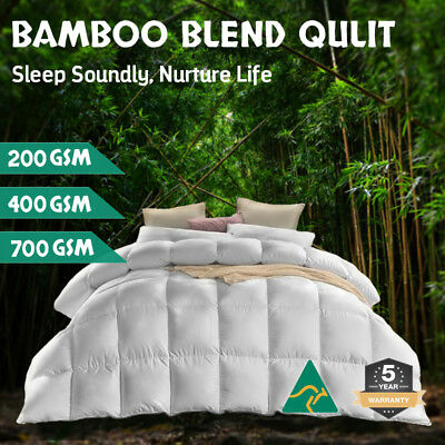 AU42.80 • Buy Aus Made All Size Microfiber Microfibre Bamboo Winter Summer Quilt Duvet Doona