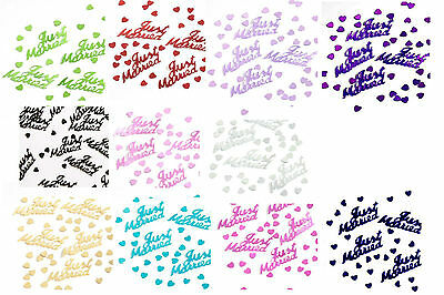 £1.29 • Buy JUST MARRIED 14g FOIL CONFETTI TABLE SCATTER WEDDING DECORATIONS 11 COLOURS (pa)