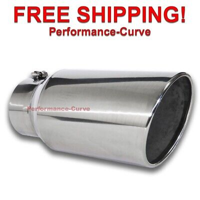 $ CDN80.48 • Buy Diesel Stainless Steel Bolt On Exhaust Tip 5  Inlet - 7  Outlet - 15  Long
