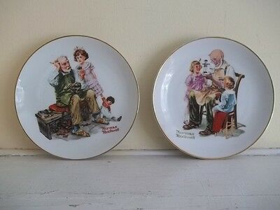 $ CDN10.36 • Buy 1984 LOT OF 2 NORMAN ROCKWELL 6.5  COLLECTOR Plates THE COBBLER AND TOYMAKER
