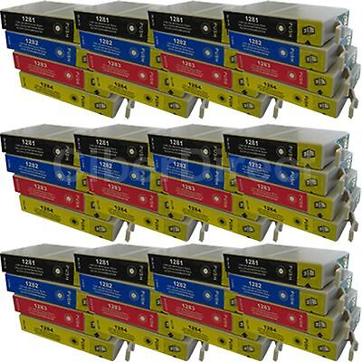 48 CiberDirect Replacements For Epson T1285 Printer Ink Cartridges - VAT Invoice • 54.77£