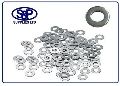 $3.55 • Buy M4 M5 M6 M8 M10 M12 M16 M20 A2  304 St/steel Washer 4mm To 20mm Form A Stainless