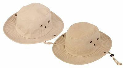£9.95 • Buy Australian Style Cotton  Bush Hat With Chin Cord 4 Size FREE Fast Post 1st Class