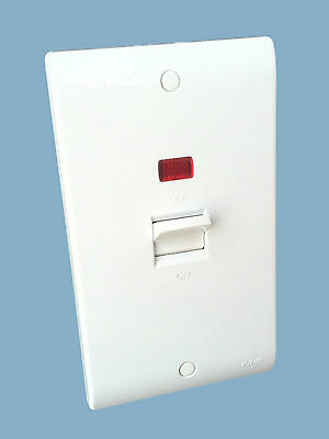 £9.25 • Buy Eaton MEM P421N 50A Double Pole Switch With Neon.  Shower / Cooker Isolator