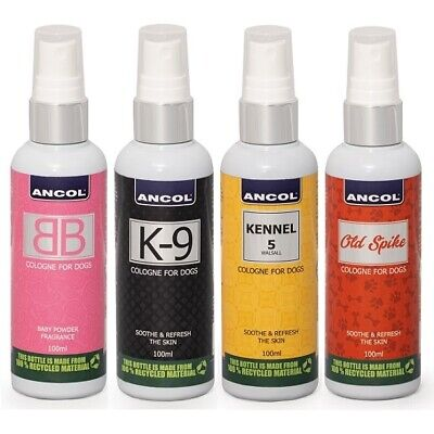 Ancol K9 Bb Kennel 5 Old Spike Dog Cologne Perfume Deodourant Spray Freshener • 7.89£