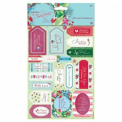 Papermania At Christmas Lucy Cromwell Die-cut Sentiments (2pk) • 1.95£
