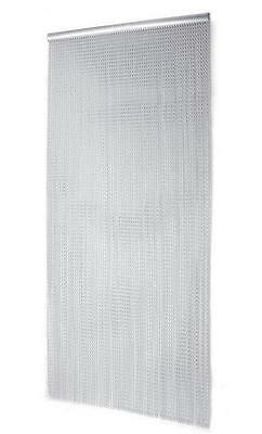 WIDE EU Made Metal Chain FLY INSECT DOOR SCREEN CURTAIN Aluminium 1M X 2M • 79.99£