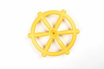 RED Or YELLOW PIRATE SHIP - BOAT STEERING WHEEL CLIMBING FRAME FUN Playhouse • 11.59£